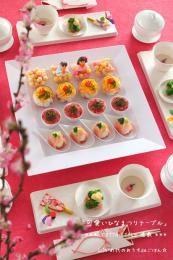 ひな祭りの可愛いテーブルコーディネート
