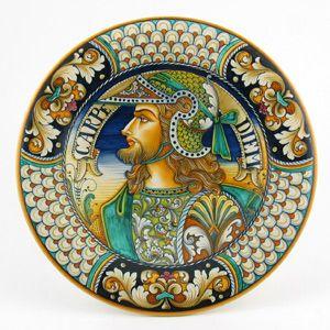 Deruta handmade wall plate by Alvaro Binaglia