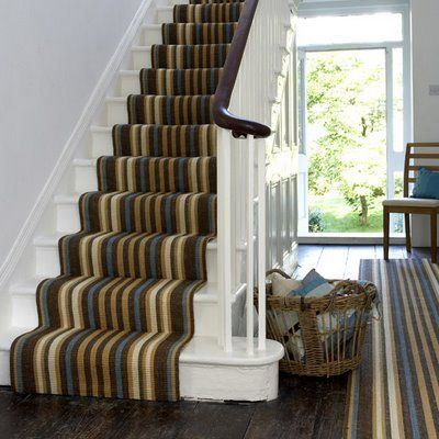 Striped Stair Runner Waterfall Layout I Prefer