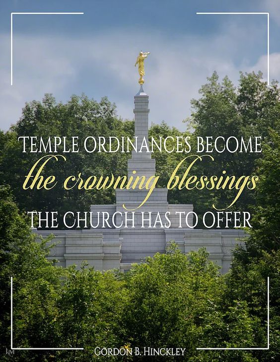"""""""The temple ordinances become the crowning blessings the Church has to offer."""" http://facebook.com/163927770338391 From #PresHinckley's http://pinterest.com/pin/24066179228827332 inspiring #LDSconf http://facebook.com/223271487682878 message http://lds.org/general-conference/1998/04/new-temples-to-provide-crowning-blessings-of-the-gospel #LDSTemples; #HouseoftheLord; #ShareGoodness; #PassItOn"""