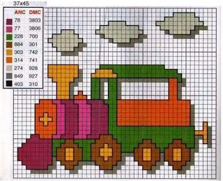 Train x-stitch