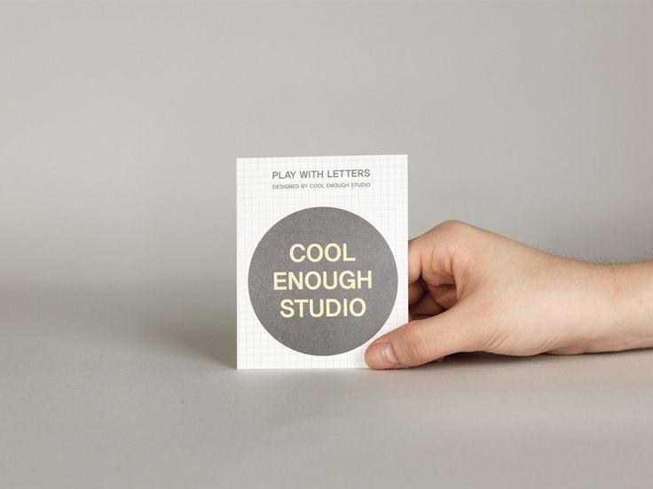 LETTER STICKER by cool enough studio.  www.coolenoughstudio.com