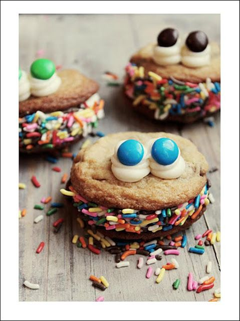 monster party theme foods | these monster cookies are fun for a monster themed party ...