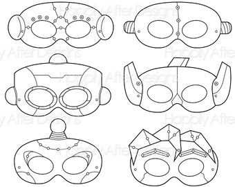Robots Printable Coloring Masks, robot mask, bots mask, robot costume, robot print, printable mask, bots mask, boys, girls, costume, color