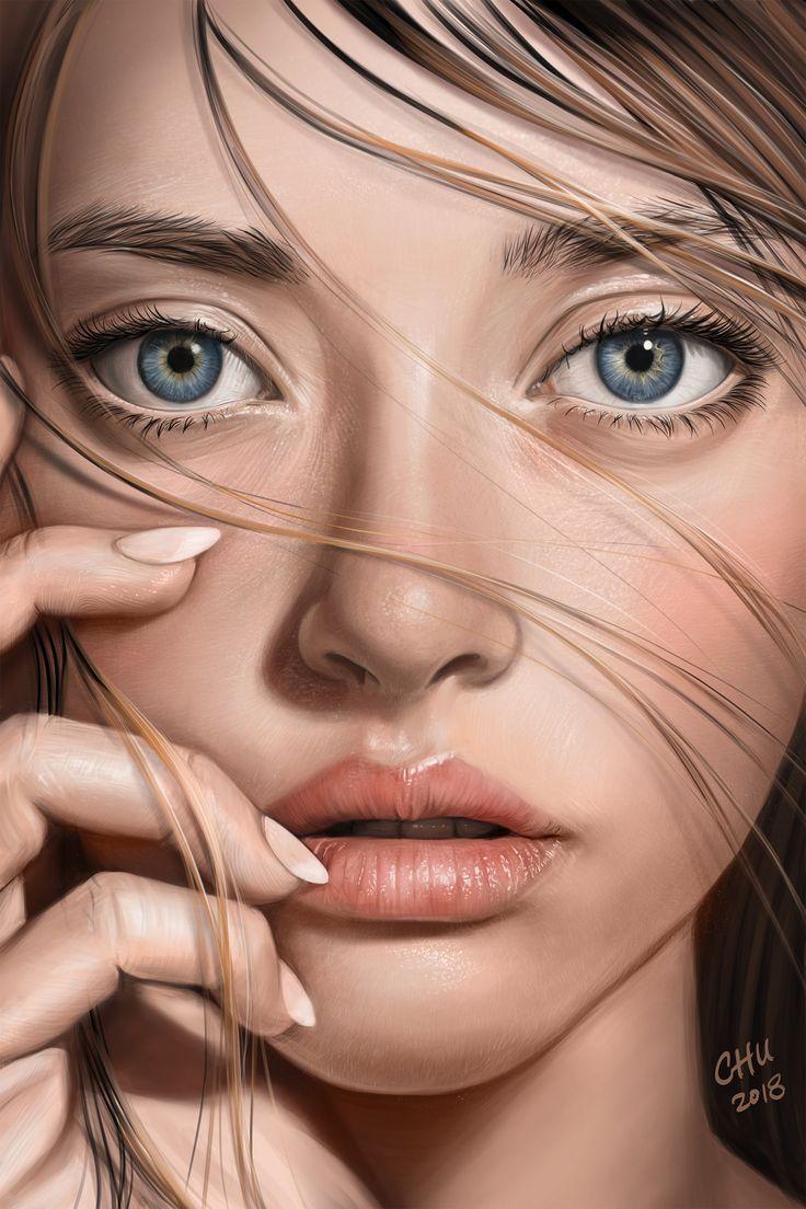 Artstation procreate painting 27082018 vincent chu digital art realistic portrait