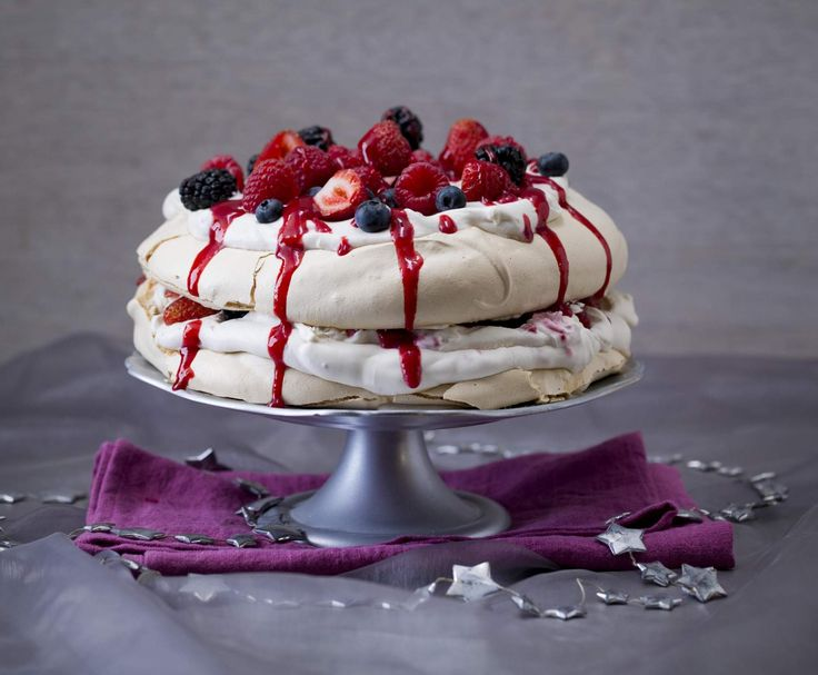 Mixed berry pavlova stack by Thermomix in Australia on www.recipecommunity.com.au