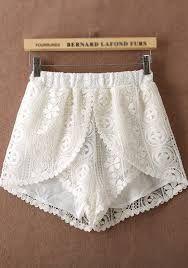 Resultado de imagen para pantalones cortos con encaje