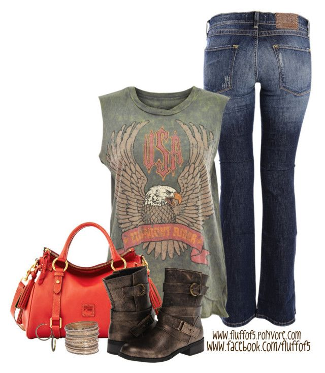 """""""Rebel Republic USA Midnight Rider Cut Off Tank"""" by fluffof5 ❤ liked on Polyvore featuring Carlos Miele, Rebel Republic, Dooney & Bourke, Dirty Laundry, H&M and Giles & Brother"""