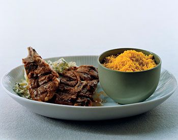 Grilled Lamb Chops with Curried Couscous and Zucchini Raita | Recipe ...