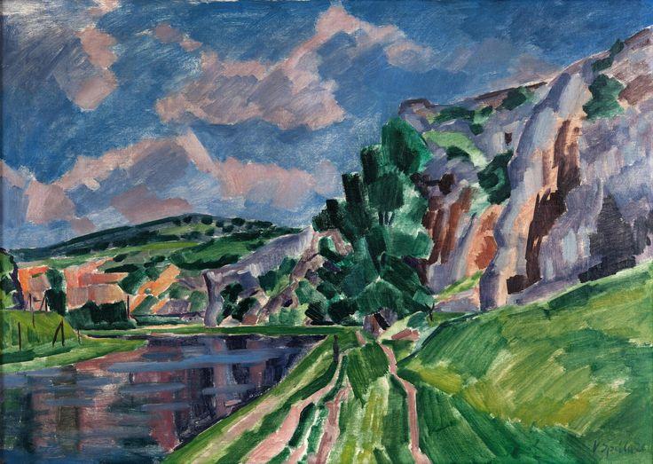 Berounka, 1926, olej, plátno, 122×87 cm