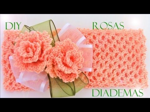 Como tejer fácil rápido flores hermosas en una sola tira - How to make knitting crochet - YouTube