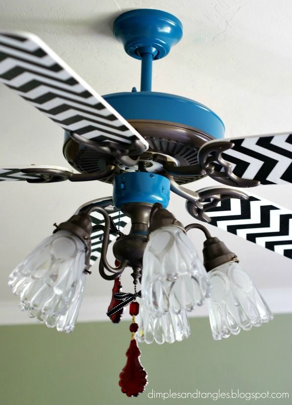 17 Best ideas about Ceiling Fan Redo on Pinterest | Ceiling fan ...:Sassy Ceiling Fans: we spray painted the dining room fan entirely.... But  for the craft room? Fabric to match the