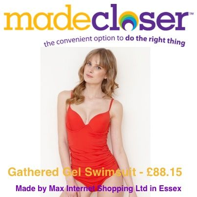Product of the Week: Gathered Gel Swimsuit made by Max Internet Ltd in Essex
