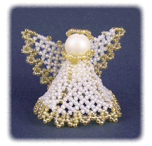 Beaded Little Angel Ornament Pattern | Bead-Patterns.com