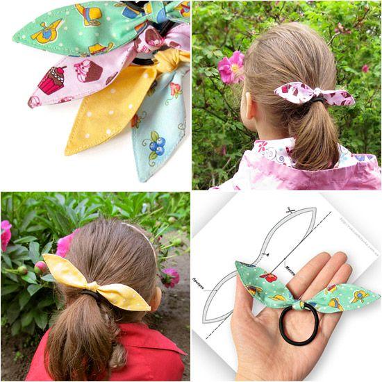 Резинка-бабочка для волос - мастер-класс