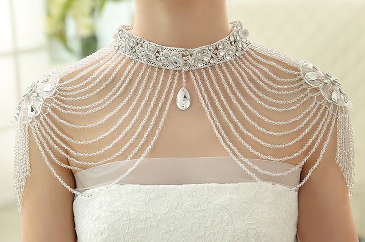 Jaquetas de casamento luxury Rhinestone Beaded Bridal Jacket Wedding Jewelry Lace Bolero jacket 2016 Wedding Accessories Beaded