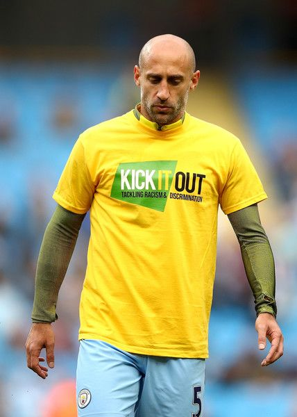Pablo Zabaleta Photos Photos - Pablo Zabaleta of Manchester City warms up prior to the Premier League match between Manchester City and West Bromwich Albion at Etihad Stadium on May 16, 2017 in Manchester, England. - Manchester City v West Bromwich Albion - Premier League