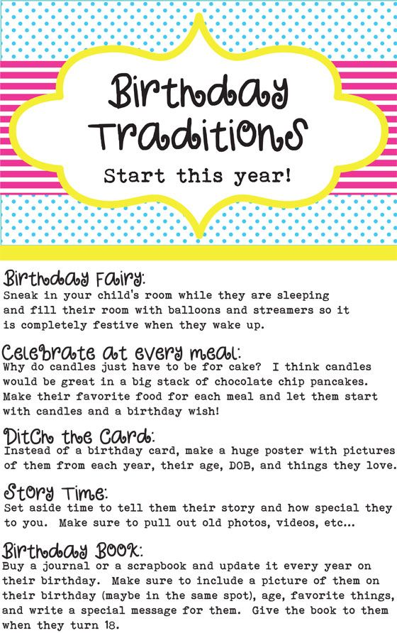 Birthday Traditions to Start With Your Kids | Parents Playground NWA