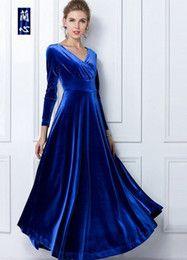 Celebrity Dress Vintage 2014 tavaszán New Érkezés Hosszú ujjú Női Női koreai Club Párt mély V ruhák XJ12-16