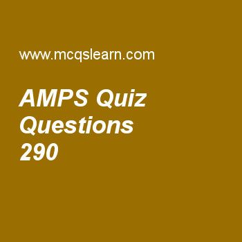 Learn quiz on amps, computer networks quiz 290 to practice. Free networking MCQs questions and answers to learn amps MCQs with answers. Practice MCQs to test knowledge on amps, domain names, bluetooth lan, voice over ip, multicast routing protocols worksheets.  Free amps worksheet has multiple choice quiz questions as d-amps is a digital cellular phone system using, answer key with choices as tdma, fdma, wma and both a and b to test study skills. For eLearning, study online wireless wans...