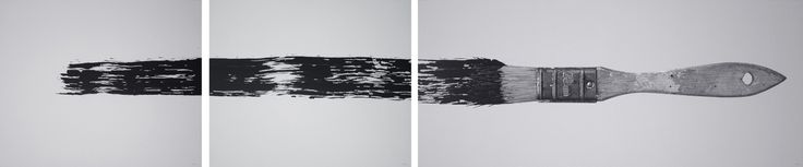 """Pencil and acrylic on foamboard. Triptych: A) 76 x 92 cm / 30 x 36.2″, B) 76 x 92 cm / 30 x 36.2″, C) 76 x 176 cm / 30 x 69.2″  2012. """"The context here is the dialectic relationship between the abstract and the concrete, between abstraction and the figurative. As form, the abstract mark and the object that generates it. The fragmentation of this space of relationship reveals the autonomy of each element, together with the close relationship that exists between the two of them."""""""