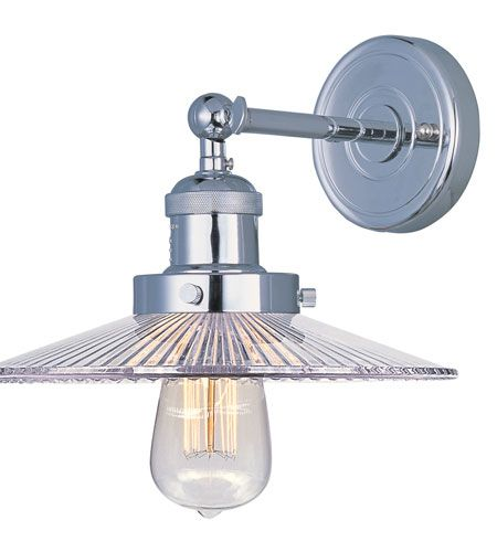 Maxim 25065CLPN Mini Hi-Bay 1 Light 10 inch Polished Nickel Wall Sconce Wall Light in Without Bulb  sc 1 st  Pinterest & 105 best lighting images on Pinterest | Wall sconces Ceiling ... azcodes.com