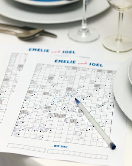 Individuelles Kreuzworträtsel als Gastgeschenk – individual wedding favor crossword game – www.weddingstyle.de