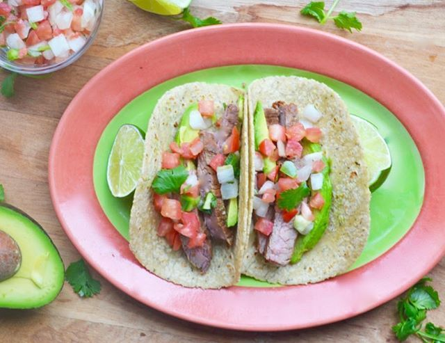 For your next summer get-together, skip the hotdogs and hamburgers and try my carne asada tacos! They're marinated in olive oil, lime, apple cider vinegar, garlic, cilantro and spices for a super flavorful and easy to make dish! Check out the recipe on my website (link in bio) and come see me demo it next Wednesday @sprouts in Del Sur! #getyourgrillon #ranchosantafelocals #sandiegoconnection #sdlocals #rsflocals - posted by JessicaSpiroRD  https://www.instagram.com/jessicaspirord. See more…