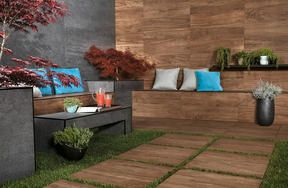 Elle Decor | ALL‑OVER WOOD LOOK | Porcelain tiles | Made in Italy |
