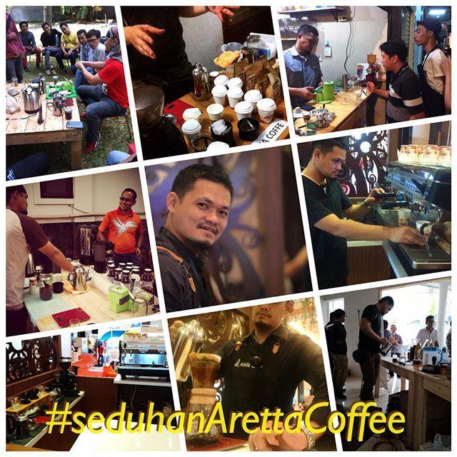 Menikmati #kopi  #Coffee ? Di acara santai ataupun formal, bersama #keluarga  #acaraKeluarga #acaraKantor bersama #temanKantor ataupun acara ditempat pilihan teman-teman atau bisa juga praktek buat kopi ala #kafe  #coffeeBreak dengan  #seduhanArettaCoffee, melengkapi setiap #acara spesial teman-teman  #belajarKopi juga seru lewat #SeduhanArettaCoffee  Aretta buat kopi nya  Teman-teman ceritakan cita rasanya  #SatuDataranJutaanRasa paging all #EO #EventOrganizer #WeddingOrganizer