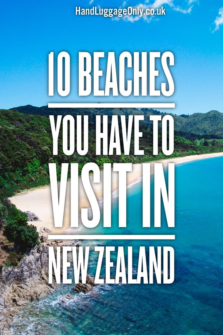 10 Beaches You Have To Visit In New Zealand - Hand Luggage Only - Travel, Food…