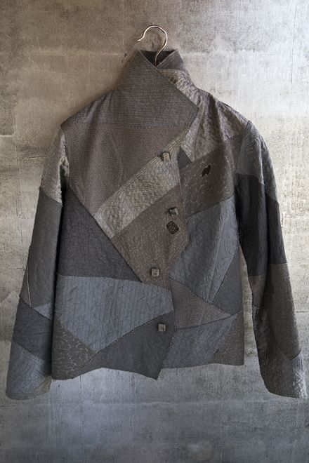 Gray cropped zigzag jacket.  $1995.