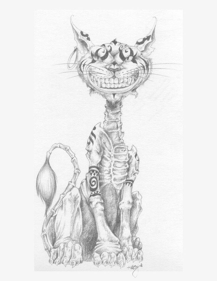 картинки чеширский кот эскиз туники недавно вошли