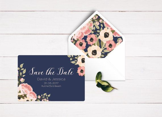 Welcome to the Love Story Designs! Beautiful peonies wrap around these gorgeous navy save the date cards. This design would be perfect as part of a set of navy and blush wedding invitations, but this save the date cards are sure to express the elegance of your special day. -----------------HOW TO ORDER----------------------  Just follow these steps and youll be on your way to ordering your calendar save the date. (Remember, this invitation is a printable invite, meaning youll get both high…