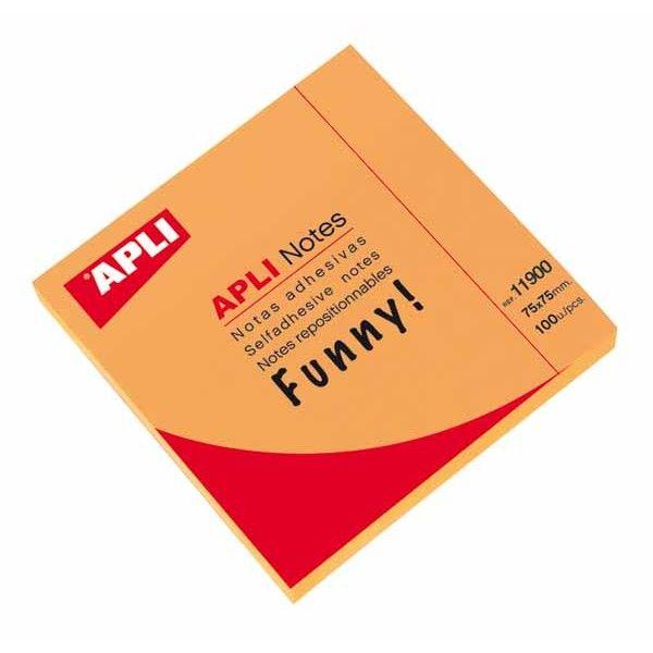 Comprar bloc 100 hojas notas naranja brillante 11900  #oficina #tienda #notas #indices #adhesivas #colores #rollo #bloc #taco