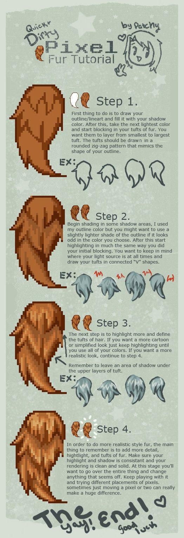 Pixel Fur tutorial by faustbane on DeviantArt
