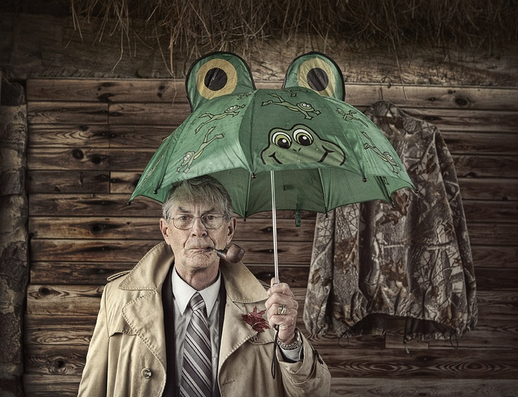 You're never too old for a frog umbrella.: Au Natural, The Dress, Awesome Fun