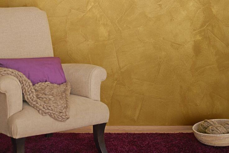Goldene Effektfarbe für glamouröse Wände ⭐ Mit den hochwertigen Farben von Alpina streichst Du einfach Deine individuelle Note an Wände und Decken ⭐ Entdecke die Gold-Farbe für Deine Wohnung hier!