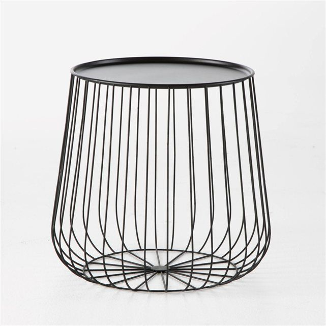 bout de canap cage fil m tal am pm prix avis notation livraison bout de canap ou table. Black Bedroom Furniture Sets. Home Design Ideas