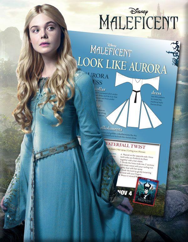 This Halloween Get A Look like Aurora From Maleficent! http://www.wdistudio.com/MAL/pnt/MAL_auroraLook.pdf