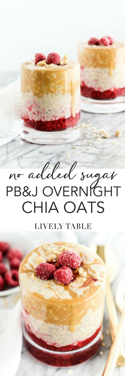 Wake up to a healthy, delicious favorite with these PB&J overnight oats! Made with hearty steel cut oats and no added sugar, this breakfast will leave you full and energized all morning! (#glutenfree) (AD) #overnightoats #noaddedsugar #peanutbutter #PB&J #pbj #oatmeal #raspberries #breakfast #mealprep