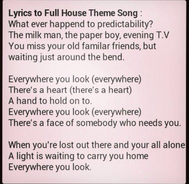 full house lyrics depression inspirational oh yes