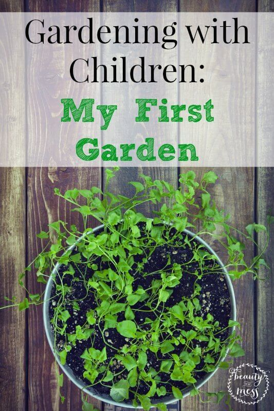 Gardening with Children My First Garden. Gardening with children is magical. Not only do they get to learn about where their food comes from, but they get to enjoy the earth by getting down and dirty!
