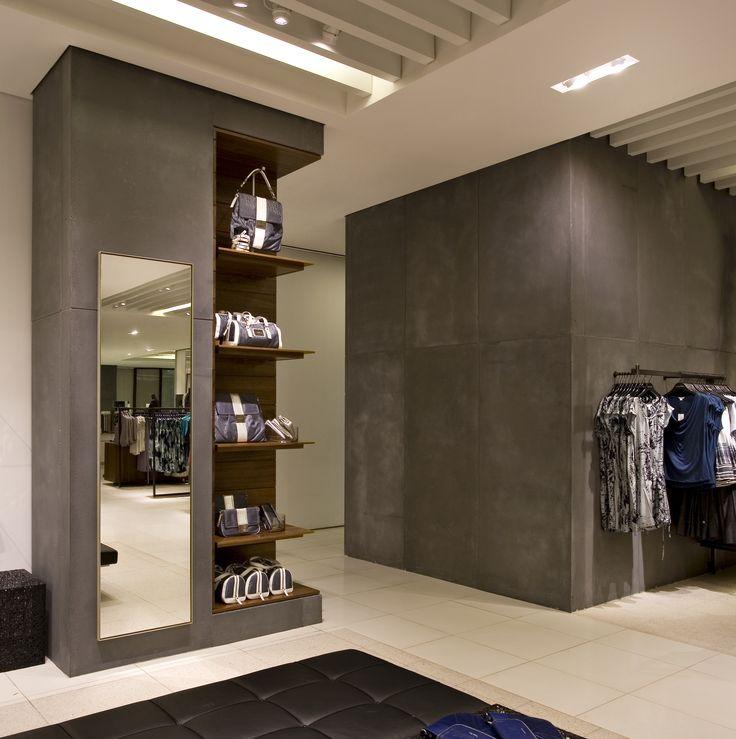 Concreteworks Wall Panels at Calvin Klein Retail Store Photo Credit: Mariko Reed