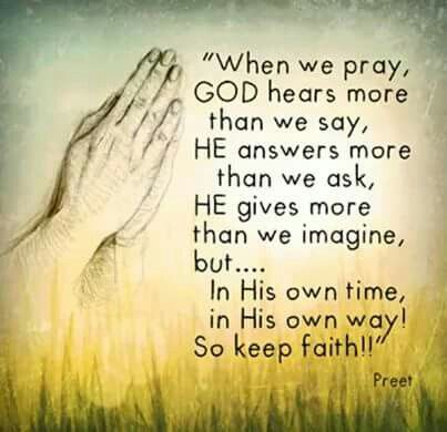 God blesses more than we can ever imagine!