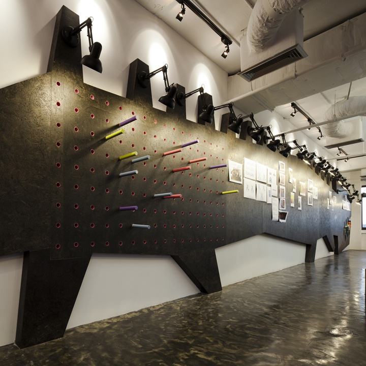 office feature wall ideas. pin up wall saatchi and thailand office by supermachine studio feature ideas o