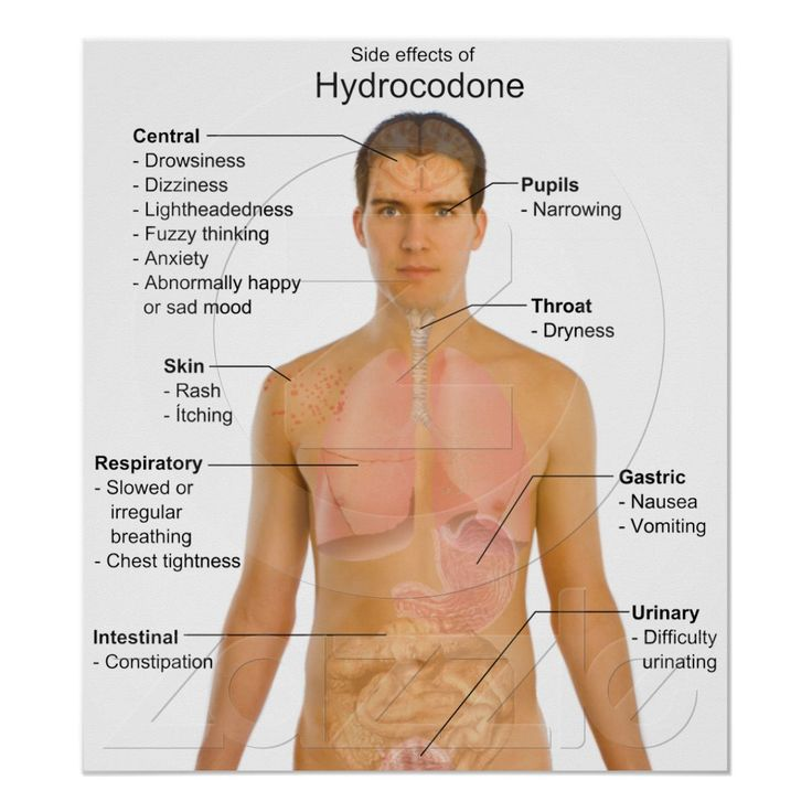 Chart Of The Side Effects Of Opioid Hydrocodone Charts