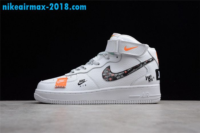 Nike Air Force 1 Mid Just Do It White Orange AQ8650 100 3 in