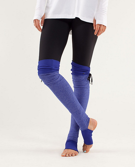 Super cute legwarmers from lulu (might need these for Pure Barre this winter)