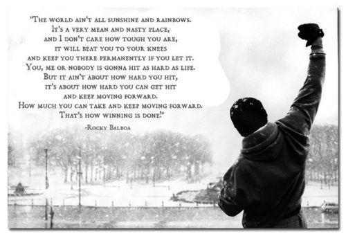 "Amazon.com: Rocky Balboa - Motivational Quotes Art Poster 16""*24"": Home & Kitchen"
